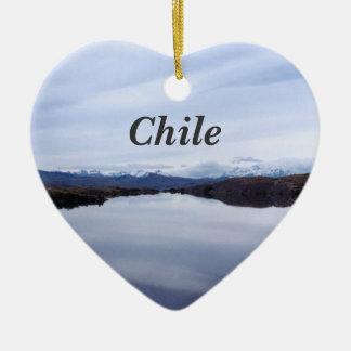 Chilean Landscape Ceramic Heart Decoration