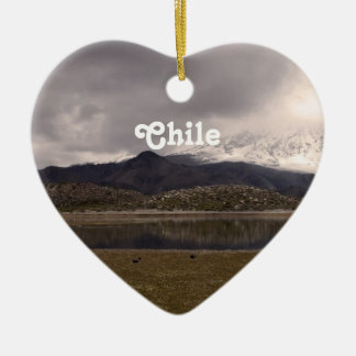 Chilean Mountains Christmas Ornaments