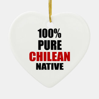 CHILEAN NATIVE CERAMIC HEART DECORATION