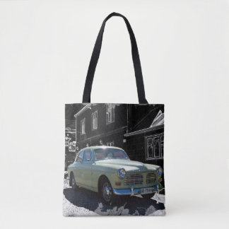 Chilean old car tote bag
