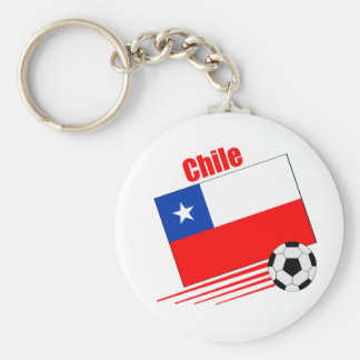 Chilean Soccer Team Basic Round Button Key Ring