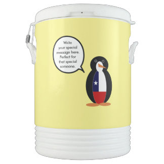 Chilean Talking Mr. Penguin Drinks Cooler