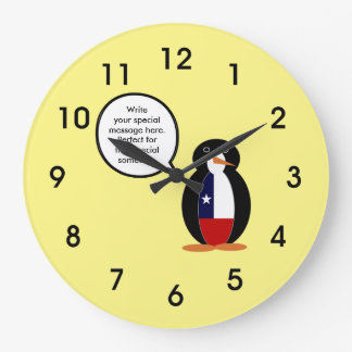 Chilean Talking Mr. Penguin Large Clock