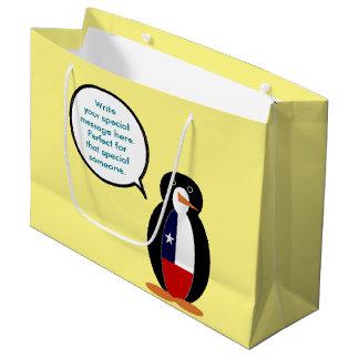 Chilean Talking Mr. Penguin Large Gift Bag