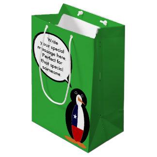Chilean Talking Mr. Penguin Medium Gift Bag