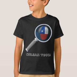 Chilean touch fingerprint flag T-Shirt