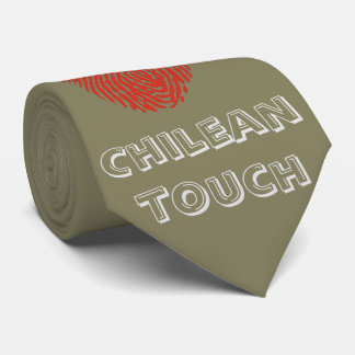 Chilean touch fingerprint flag tie