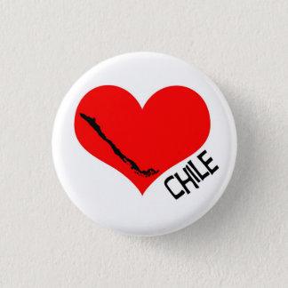 Chileheartbutton 3 Cm Round Badge