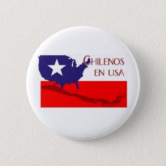 ChilenosUSALogo4 6 Cm Round Badge