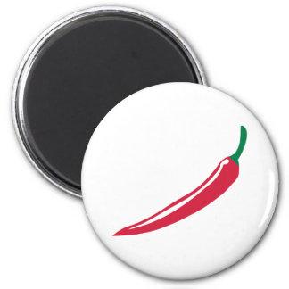 Chili 6 Cm Round Magnet
