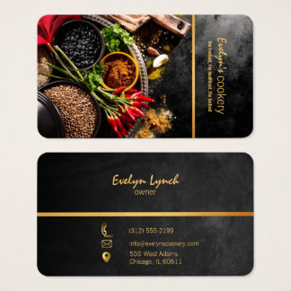 chili and spices restaurant business card