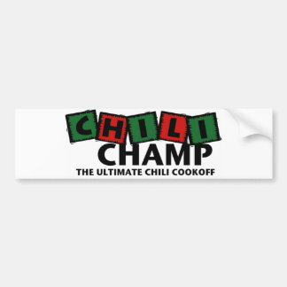 Chili Champ Bumber Sticker