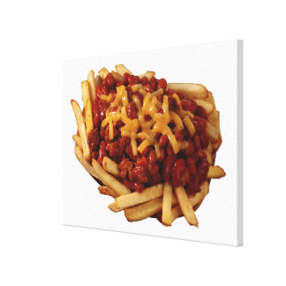 Chili cheese fries gallery wrapped canvas