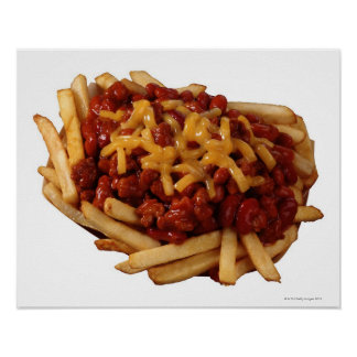 Chili cheese fries poster