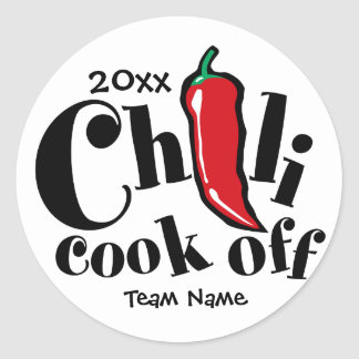 Chili Cook Off Classic Round Sticker