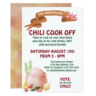Chili Cook Off Invitation