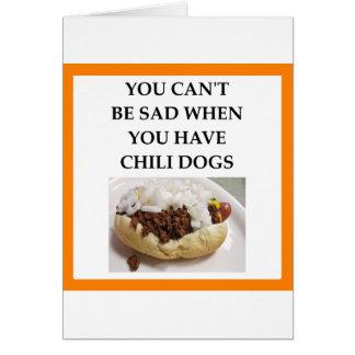 CHILI DOG CARD
