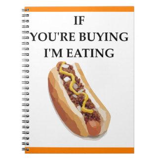 chili dog notebooks