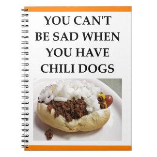 CHILI DOG SPIRAL NOTEBOOK