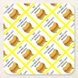 chili dog square paper coaster