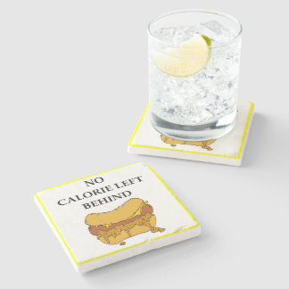 chili dog stone coaster