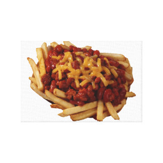 Chili Fries Stretched Canvas Prints