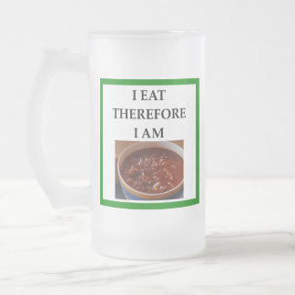 chili frosted glass beer mug