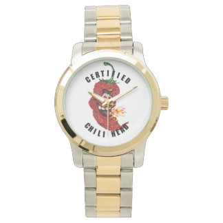 Chili Head Oversized Two-Tone Bracelet Watch