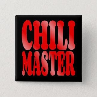 Chili Master in Red 15 Cm Square Badge