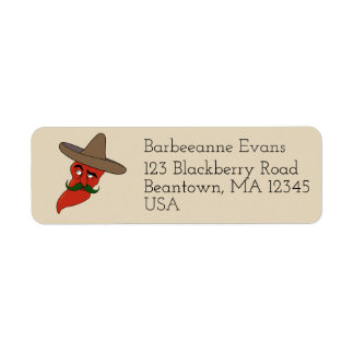 Chili Pepe Return Address Label