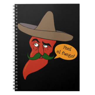 Chili Pepe Spiral Notebook