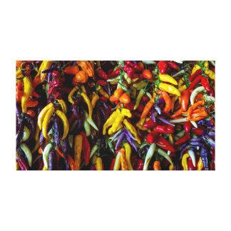 Chili pepper canvas print