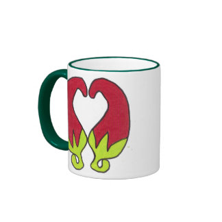 Chili Pepper Love Ringer Mug