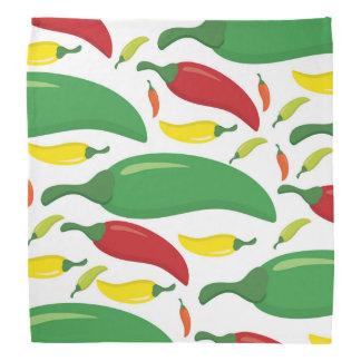 Chili pepper pattern bandana