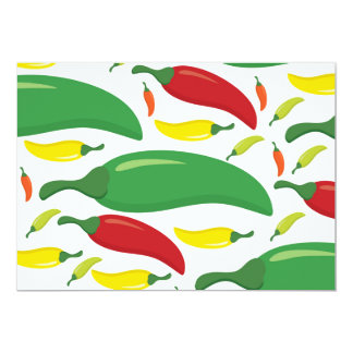 Chili pepper pattern card