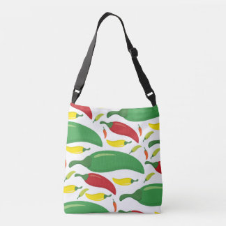 Chili pepper pattern crossbody bag