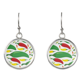 Chili pepper pattern earrings