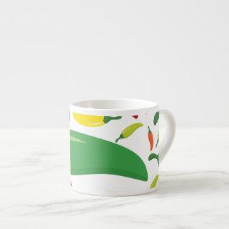 Chili pepper pattern espresso cup