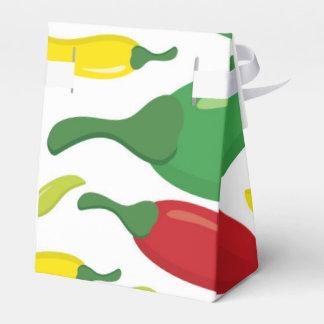 Chili pepper pattern favour box