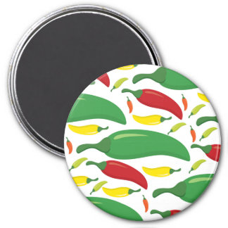 Chili pepper pattern magnet