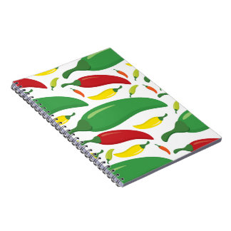 Chili pepper pattern notebook