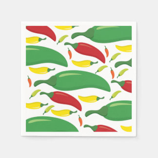 Chili pepper pattern paper napkins
