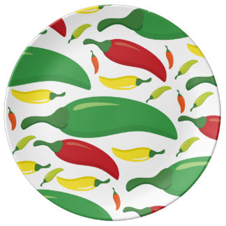 Chili pepper pattern plate