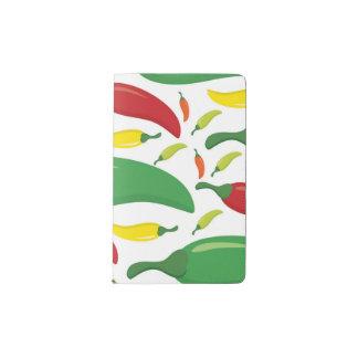 Chili pepper pattern pocket moleskine notebook