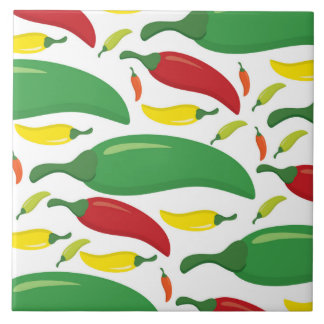 Chili pepper pattern tile