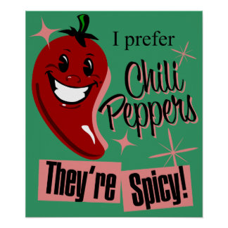 Chili Peppers $24.95 Art Poster