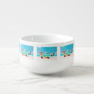 Chili Peppers By The Sea Soup Mug