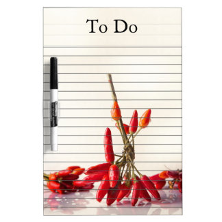 Chili Peppers Dry-Erase Boards