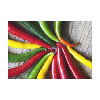 Chili Peppers Gallery Wrapped Canvas