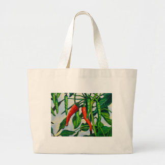 Chili Peppers Large Tote Bag